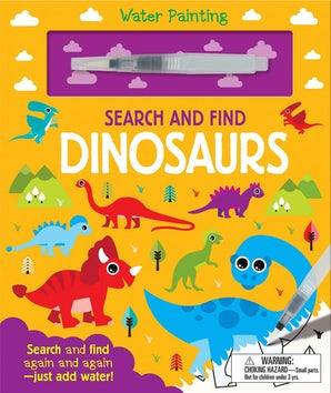 Water Painting Search and Find: Dinosaurs