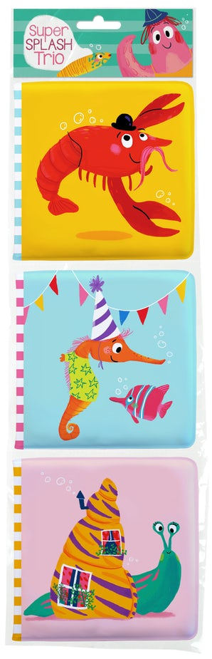 Super Spash Trio: Lobster / Seahorse / Snail